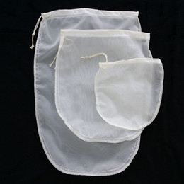 Wholesale nylon tea bags - Oval 3 size reusable milk tea fruit juice fine NYLON mesh strain filter bag E00297 BARD