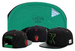 Wholesale Outdoor Summer Hats For Men - 2017 GOOD Quality brand Cayler & Sons X letter leather for men and women Gorras Snapback hats Baseball Caps Casquette Sports Outdoors