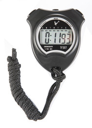 Wholesale Sport Timer Stop Watch - Wholesale- LEAP TF307 Single Row 2 Memory Sport Stopwatch Digital Large Sceen LCD Handheld Chronograph Timer Stop Watch with Lanyard F14939