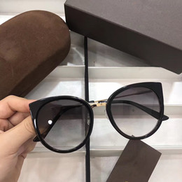 Wholesale Pc Black Counter - 5038 Luxury Popular Sunglasses Women Brand Designer Counter Cat Eye Shape Retro Vintage UV Protection Top Quality Sunglasses Come With Case