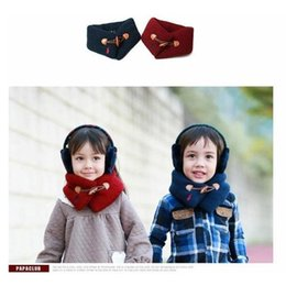 Wholesale Little Girls Scarves - 2017 new winter design baby scarf,bufandas pure color wrap kids shawls and scarves for 1-4 year old little boy girl