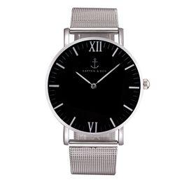 Wholesale Band Christmas - Fashion KAPTEN & SON Brand women men Unisex steel metal band quartz wrist watch