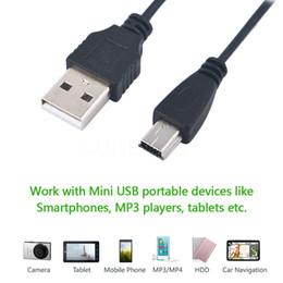 Mp3 кабель для передачи данных онлайн-70 см USB 2.0 мужчина к Mini 5 Pin B зарядка кабель для передачи данных шнур зарядки адаптер для MP3 Mp4 камеры телефон 5TLR мини USB кабель-адаптер