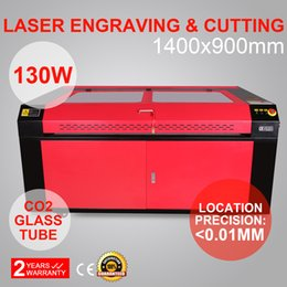 Wholesale Laser Cutting Machines - 130W CO2 LASER ENGRAVING MACHINE CO2 LASER ENGRAVER ENGRAVING CUTTING MACHINE 1400X900MM USB PORT