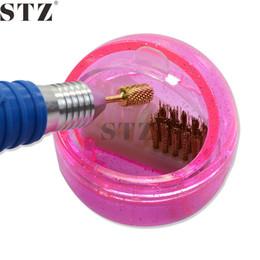 Wholesale Tool Bit Brushes - Wholesale- New 1pcs Nail Art Tools Portable Nail Bit Bit Cleaning Brush Box Rose Red Beauty Brush Cleaner Manicure Nails Equipment NJ217