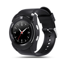 Wholesale Hd Display Mobiles - High Quality V8 Watch Mobile Phone Bluetooth 3.0 IPS HD Full Circle Display Smartwatch OGS SIM TF Card VS GT08 A1