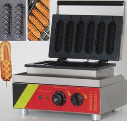 Wholesale Lolly Waffle Machine - Free shipping! Hot Sale 110V 220V Commercial Use Electric Lolly Waffle Maker Machine Hot dog machine