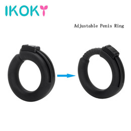Wholesale Black Sex Toys Men - IKOKY Adjustable Cock Ring Penis Rings Delay Ejaculation Silicone Adult Sex Products Sex Toys for Men Sex Shop White Black q170718