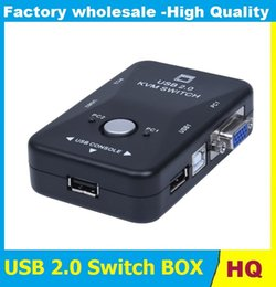 Wholesale Usb Vga Switch - Hot Sale 2 Port VGA USB KVM Switch Splitter Auto Controller Keyboard Mouse Printer Up to 1920*1440