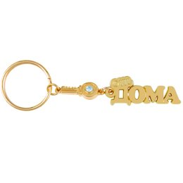 """Wholesale Gold Star Keychain - Wholesale-Charm star boutique rhinestone key keychain """"HOME"""" keyring souvenir of gold home decoration small gift key pendant key chain"""