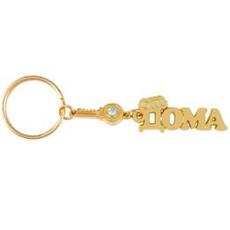 "Wholesale Home Keyrings - Wholesale-Charm star boutique rhinestone key keychain ""HOME"" keyring souvenir of gold home decoration small gift key pendant key chain"