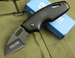 Wholesale Utility Knife Keychain - 2 Styles New Small Size Cold Steel 710MT Folder Fine Serrated EDge EDC Keychain Folding Pocket Gift Tactical Utility Knives Best Gift B302Q
