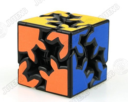 Wholesale Educational Stickers - JTY019 3D Cube Puzzle Magic Cube 2 x 2 x 2 Gears Rotate Sticker Puzzle Adults Child's Educational Toy Cube