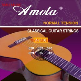 Wholesale Nylon Strung Guitar - Amola AC110 115 Classical Guitar Strings Set 6-string Classic Guitar Clear Nylon Strings Silver Plated Copper Alloy Wound