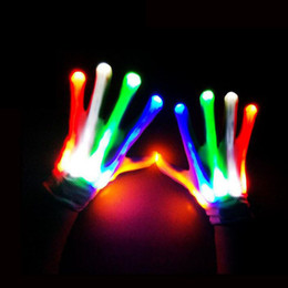 Wholesale Wholesale Christmas Novelty Items - LED lighting gloves flashing cosplay novelty glove led light toy item flash gloves for Halloween Christmas Party ZA2570