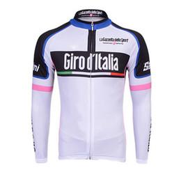 Wholesale Cheap Long Sleeve Cycling Jerseys - Men long sleeve cycling jersey Tour de Italy Ropa Ciclismo Bicycle Cycling Clothing Quickdry Racing Bike Sportswear china cheap clothes B172