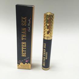 Wholesale Black Packet - 2pcs Top quality !!! Volume Pink Mascara Better Than Sex Cool Black Mascara TF Thinck Waterproof Elongation free shipping by packet