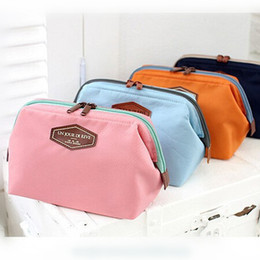 Wholesale Vintage Cosmetics - Wholesale- 2017 NEW Vintage Make Up Cosmetic Bags Women Travel Bag Organizer Bag Women Cosmetic Makeup Cotton Cases Lady 4 Colors