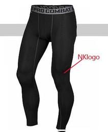 Wholesale Brand Track Pants - Original 2017 brand men pro combat Athletic sport skinny compression Basketball training legging gym track tight pants fitness