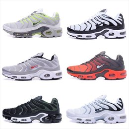 Wholesale Shoe Materials - 2018 TN Men's New Free Shipping +Sock 37 Colors Wholesale High Quality Hot Sale Casual Shoes Sporting material shoes size US 7-12