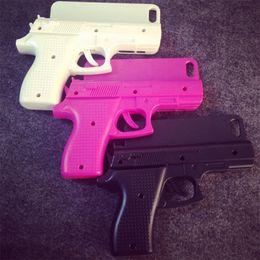 Wholesale Wholesale Gun Cases - COOL 3D Toys Gun Shape Cell Phone Case Cover For iPhone 8 Plus   iPhone 7 Plus 6S Hard Phone Back Case cover