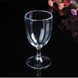 Wholesale Clear Plastic Drinking Cups - Disposable Champagne Glass Transparent Wine Cups Juice Glass Hard Plastic Environmental Non-toxic 150ml 200ml Clear Thickened