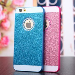 Wholesale Hard Plastic Pc Case Crystal - Luxury glitter powder shining hard PC diamond case cover For iphone7 7plus 6 6splus 5S crystal strass Rhinestone phone cases