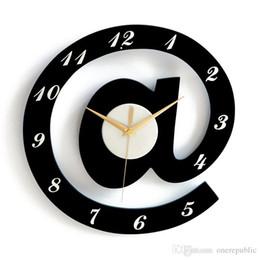 Wholesale Wholesale Wooden Clocks - Creative Mute Bedroom Wall Clocks Modern Wooden Symbol Natural Design Personality Living Room Decor Mural Clock
