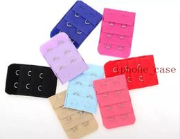 Wholesale Sewing Notions Tools - Women brassiere 3 Rows 2 Hooks Bra Extenders back buckle Clasp Strap Sewing Notion Tools Intimates Accessories