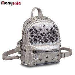 Wholesale Children Range - Wholesale- 2017 new Korean fashion bag leather shoulder bag rivets children Mini Backpack tidal range