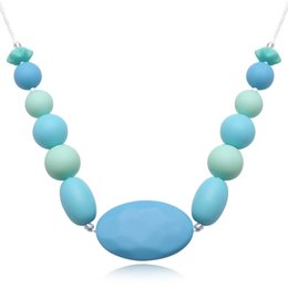 Wholesale Food Christmas Gift - Women Silicone Pendant Necklace Food BPA Free Food Grade Silicone Fashion Jewelry Baby Chew Carrier Teething Accessories Long Necklace Gift