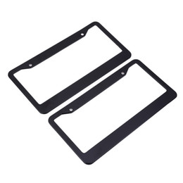 Wholesale frame for license plate - XC - TP 091 USA License Plate Frame Aluminium Alloy Durable for Car Truck RV Mini-van etc Prevent Plate Number from Losing
