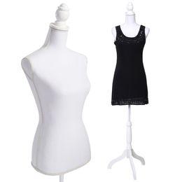 Wholesale Female Display - White Female Mannequin Torso Dress Form Display W  WhiteTripod Stand New