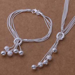 joyas de cuentas extranjeras Rebajas Mystic Zirconium 925 silver silver of frosted light beads pulsera collar hermosa joyería de comercio exterior de Estados Unidos al por mayor