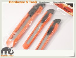 Wholesale Snap Blades - 3pc Snap-off Utility Knife Cutter Knives: 2pc 9mm+1pc 18mm Blades Wholesale