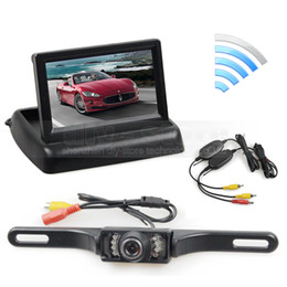 Wholesale Car Reverse Kit - Wireless 4.3inch Car Reversing Camera Kit Back Up Car Monitor LCD Display HD Car Rear View Camera Parking System