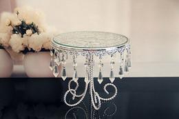стойка торта верхней ранга кристаллическая с серебряной стойкой цвета / centerpiece венчания от