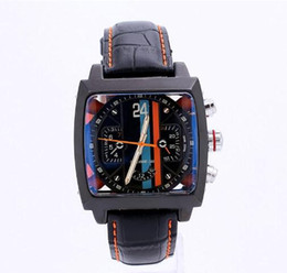 Wholesale Calibre 36 Black Steel - High Quality Men Watch Luxury Watches Automatic Mechanical Wristwatches Wholesale Sports Calibre 36 Leather Strap Famous Brand relojes Free