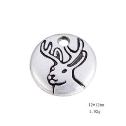Wholesale Deer Head Charms - Antique Sivler Plated Deer Head & Lop Running Horse & Flying Bat Animals Charms Zinc Alloy Charms For Diy Necklaces Bracelets Making