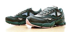 Wholesale Body Dark - 2017 new mens Raf Simons x Consortium Ozweego Dark Green & Clear Pink AQ2640 Casual Running Shoes,Discount Cheap Trainers Training Sneakers