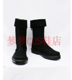 Wholesale Anime Canvas Shoes - Wholesale- One Piece Roronoa Zoro Cosplay Custom Made Boots Shoes Anime size cloth boots