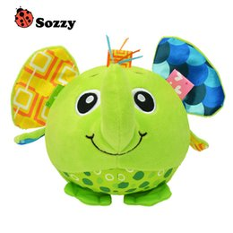 Canada Vente en gros - Baby animal modeling ball Cartoon Baby plush Ball jouets colorés doux cloche Toy Educational Hand Grasp Ball colorful ball soft on sale Offre