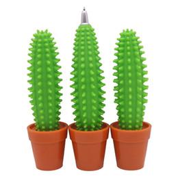 Regali divertenti delle penne online-vendita all'ingrosso Cactus penna a sfera 1.0 Mm punta penna blu ricarica decorazione Regali penne studente cancelleria ufficio divertente spedizione gratuita (7)