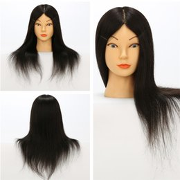 Wholesale Hairdressing Training Heads Real Hair - Fashion Female Mannequin Training Heads 100% Brazilian Human Virgin Hair Hairdressing Training mannequin heads Real Hair Long Straight