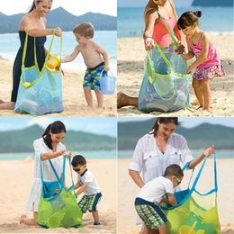 Wholesale L Type Tools - New Large Outdoor children toy bag pond sand dredger tool debris storage grid beach bag DHL FEDEX