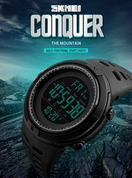 Wholesale Skmei Waterproof - SKMEI Brand Men's Fashion Sport Watches Chrono Countdown Men Waterproof Digital Watch Man military Clock Relogio Masculino