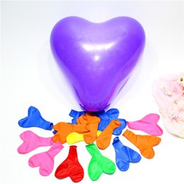 """Wholesale Balloon Heart Latex Wedding - Hot sale 100pcs 12"""" heart shapr creative colorful Inflable Thickening Pearl Wedding Holiday Party Birthday decoration Balloon Matt balloon"""