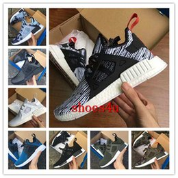 Wholesale Army Shoes For Kids - (With Box) Cheap New NMD XR1 Boost Duck Camo Navy White Army Green for Top quality MND Men Women Kids Casual Shoes Drop Free Shipping 36-45
