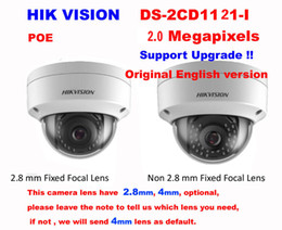 Wholesale Camera Ip Hd Dome - Hikvision English DS-2CD1121-I 2MP HD 1080P POE IP67 WDR IP Dome Camera
