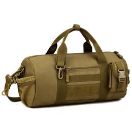 5f10dc8997 Wholesale Men Tactical Shoulder Messenger Bag 1000D Nylon Bucket Cylinder Outdoors  Bag Travel Hike Camp Free Shipping